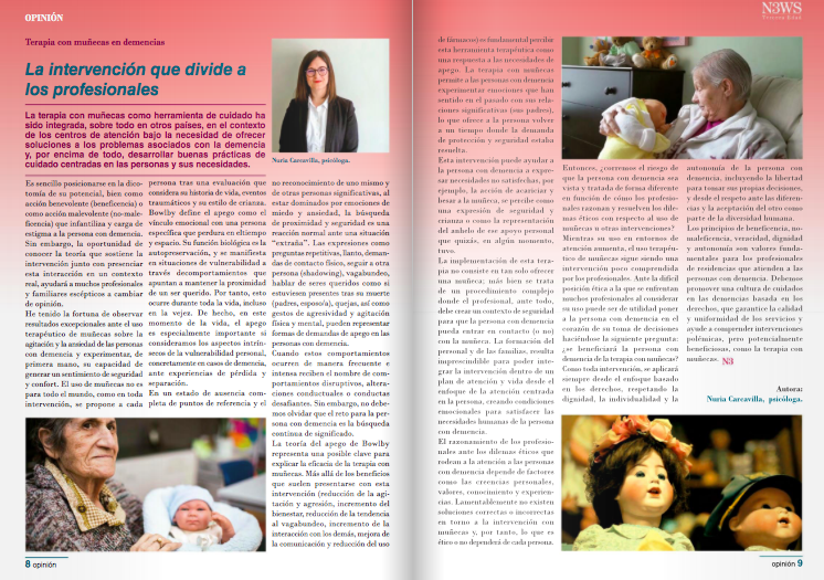 terapia con muñecas demencia nuria carcavilla