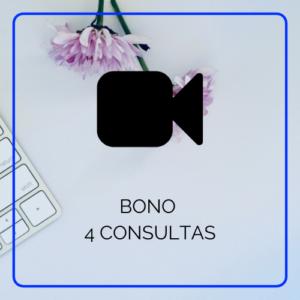 bono de 4 consultas por videoconferencia