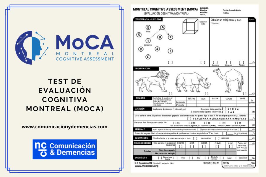 Test de Evaluación Cognitiva de Montreal (MoCA) para la demencia