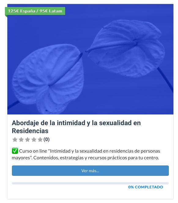 curso intimidad y sexualidad residencias