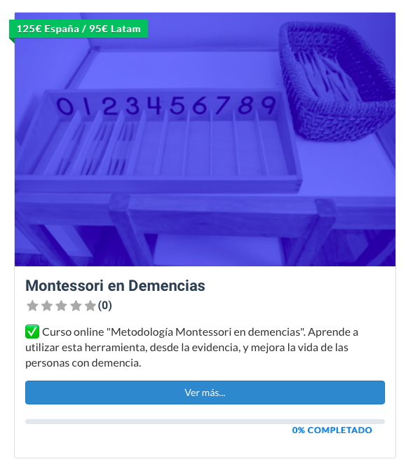 curso montessori en demencias